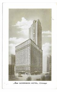 New Morrison Hotel Chicago IL Vintage Glossy Steelograph Postcard