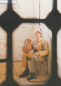 Prisoner at Northleach Prison Northleach Cotswolds Correction Waxwork Postcard