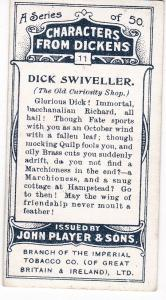 Cigarette Cards Players Characters From Dickens No 11 Dick Swiveller
