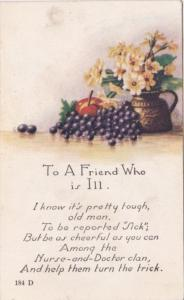 To A Friend Who Is Ill With Beautiful Flowers 1920