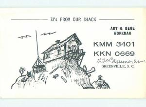 comic - QSL HAM RADIO CARD Greenville South Carolina SC t0887