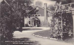 Maine Bryant Pond Bisrch Villa Inn On Lake Christopher Artvue