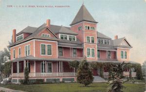 Walla Walla Washington~IOOF Home~International Order Odd Fellows~1908 Postcard