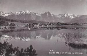 Austria Seefeld mit Wildsee und Wetterstein Real Photo
