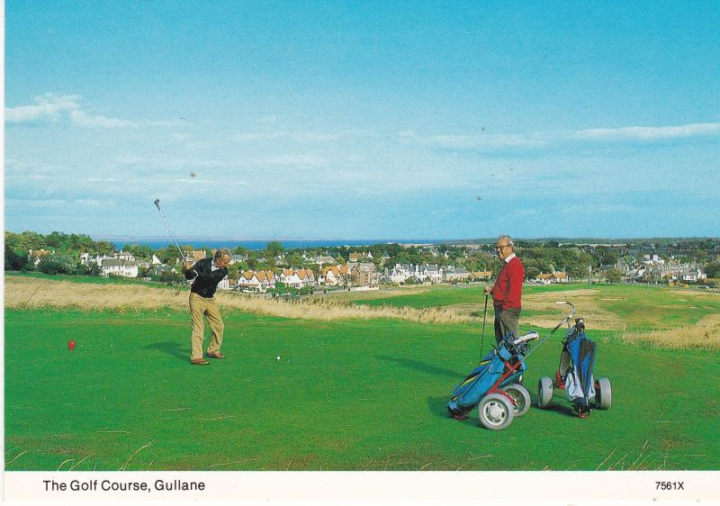 Post Card Scotland East Lothian  GULLANE  The Golf Course Hail Caledonia