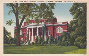 Fine Arts Building, Greenville Women's College, Greenville, South Carolina, 3...