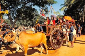 Parade of Cows, Driven Carts of Sukho Thai Thailand Unused