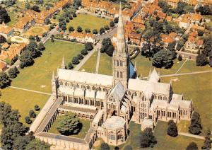 Salisbury Cathedral Wiltshire Aerial view