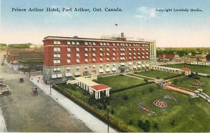 Prince Arthur Hotel Port Arthur Ontario ON Divided Back PC