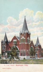 MUSKOGEE , Oklahoma, 1900-1910's; St.Paul Church