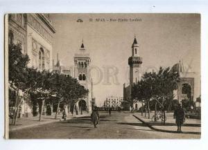 235726 Tunisia TUNIS SFAX Emile Loubet street Vintage postcard