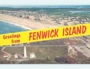 Pre-1980 TWO VIEWS ON ONE POSTCARD Fenwick Island - Near Bethany Beach DE AE9163