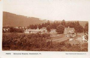 LPV55 Brattleboro Vermont VT Postcard RPPC Memorial Hospital