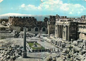 Lebanon Postcard Baalbeck Court of the Temple of Jupiter