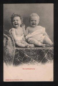 058102 Crying Baby BOYS vintage PHOTO Type