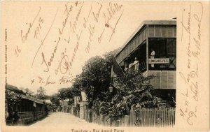 CPA AK Tamatave. Rue Amiral Pierre. MADAGASCAR (625548)
