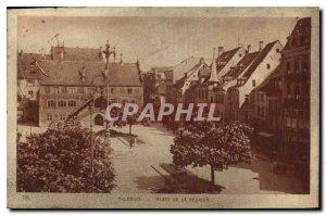 Old Postcard Mulhouse Place de la Reunion