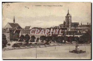 Old Postcard Colmar Place Rapp and Champ de Mars