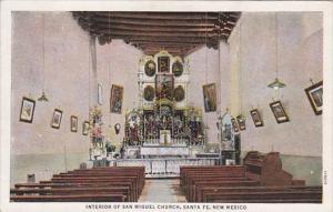 New Mexico Santa Fe San Miguel Church Interior