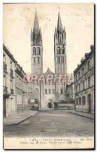Old Postcard Caen L & # 39Eglise Saint Etienne Abbaye aux Hommes