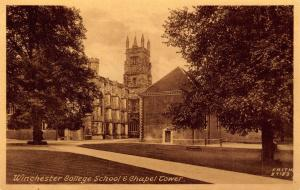 Vintage Postcard Winchester College School & Chapel Tower by F. Frith No. 87183