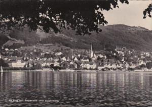 Switzerland Zug Mit Zugersee und Zugerberg 1953 Real Photo