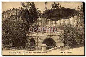 Old Postcard Kiosk and up Hyeres Palmiers