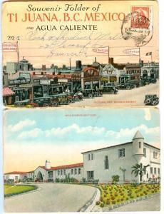 Souvenir Folder Postcard , TI JUANA , Mexico , 1910-20s