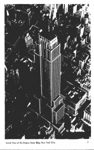 New York City Aerial View Empire State Building Real Photo