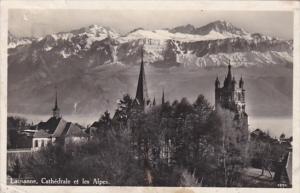 Switzerland Lausanne Cathedrale et les Alpes 1931 Photo