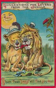 Couple of Lions, I hope these Lines will find you well, Full Moon, PU-1909