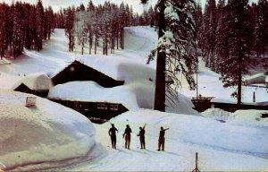 California Yosemite The Ski House At Badger Pass 1955