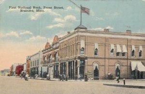 BRAINERD , Minn., 1900-10s ; Front street at First National Bank
