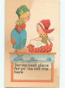Divided-Back CHILDREN SCENE Great Postcard AA6521