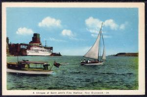 Sailboat,St John's Harbour,New Brunswick,Canada