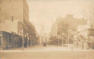 Manchester NH~Hanover Street~J Bruno Mdse Store~Hood Florist~c1910 RPPC