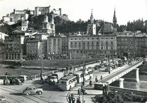 Austria Salzburg Staatsbrucke  traffic Postcard