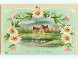 Divided-Back BEAUTIFUL FLOWERS SCENE Great Postcard AA2952