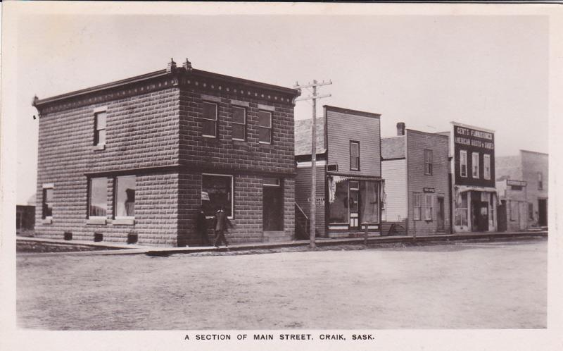 RP:  CRAIK , Saskatchewan , Canada , 1900-10s ; Main Street