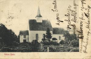 norway norge, RØKEN RØYKEN, Buskerud, Kirke Church (1904) Stamp