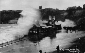 Scarborough North Bay Rough Sea 1911