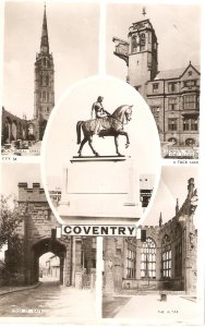 Views of Coventry. Horse statue...  Tuck Real Photograph Ser. PC