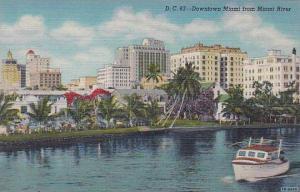 Florida Miami D C 63 Downtown Miami From Miami From Miami River
