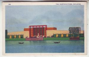 PC28 JL postcard 1933 chiago world,s fair horticultural bldg