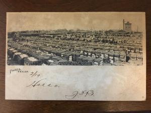 1906 Cotton Scene at Paris, Texas TX d19