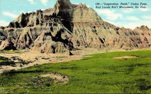 South Dakota Bad Lands Cedar Pass Inspiration Point Curteich