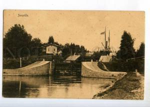247509 RUSSIA FINLAND Brusnitsnoje JUUSTILA ship canal Vintage