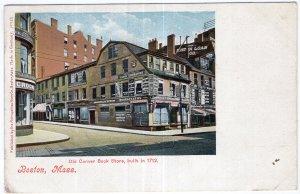 Boston, Mass, Old Corner Book Store, built in 1712