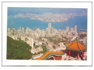 Hong Kong & Kowloon from peak,40-60s