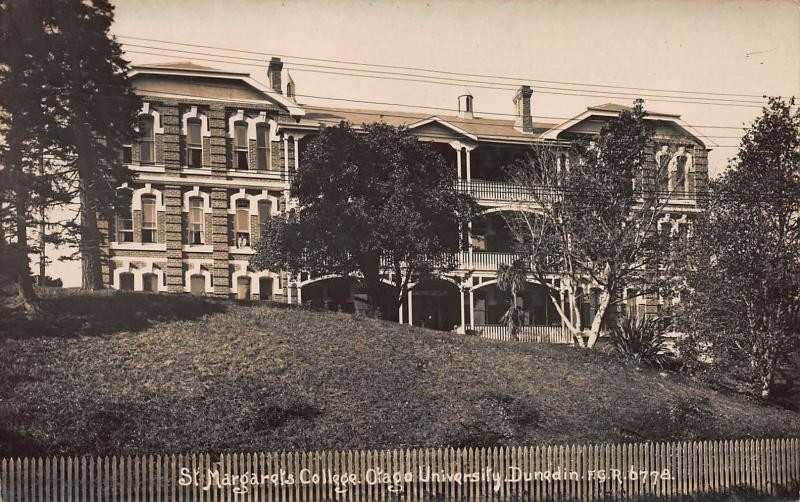 St. Margaret's College, Otago University, Dunedin, New Zealand, Real Photo